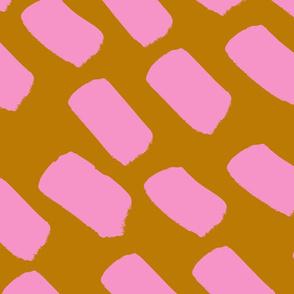pink and mustard dash