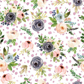 watercolor blush floral water sport