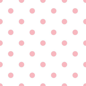 pink dots blush watercolor floral
