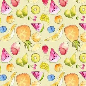 Watercolor Summer Fruit