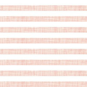 "pale pink linen 1/2"" horizontal stripes"