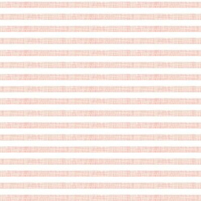 "pale pink linen 1/4"" horizontal stripes"