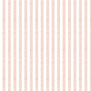 "pale pink linen 1/4"" vertical stripes"