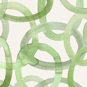 Olive Green Circles