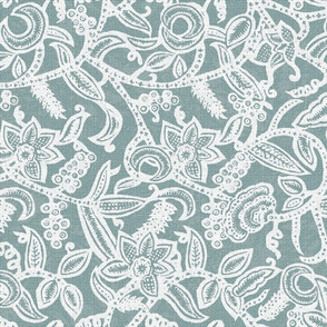 Vintage floral Lace neutral invert50