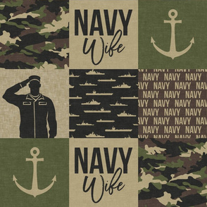 Navy Wife - military wife patchwork - OG  - LAD19