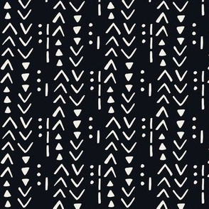 Fresh Spring Mudcloth - Black and Linen
