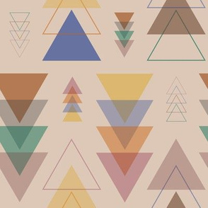 Minimalist Geometric Pendants in Earthtone