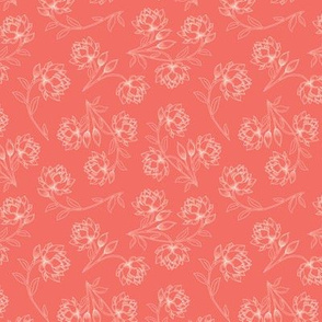 Lotus in Living Coral (small)