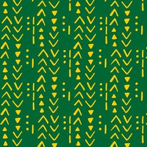 Fresh Spring Mudcloth - OFFICIAL Green and Gold