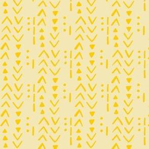 Fresh Spring Mudcloth - Gold