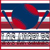 Los Angeles AngelsTeam Colors Baseball and Bats