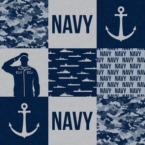 Navy - Military Wholecloth - Navy  - LAD19