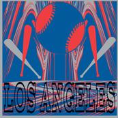 Los Angles Dodgers Team Colors Baseball City Pride