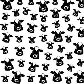 Cow print black white fabrics