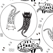 draw ying yang kittens
