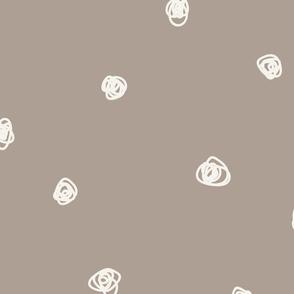 JUMBO Brown squiggle dots