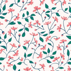 Wild flowers in coral