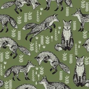 woodland fox olive
