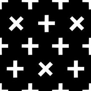 Crosses White on Black