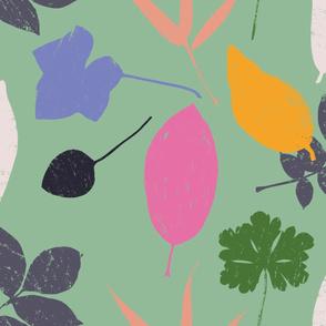 jumbo summer garden leaves