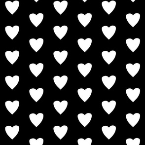 Simple Heart // White  on Black