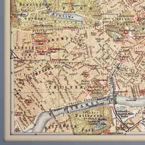 London map, 47 inches wide