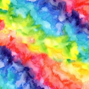 Rainbow watercolour wash #8 - smaller scale