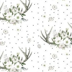 "4"" Rustic Lodge Florals // White"