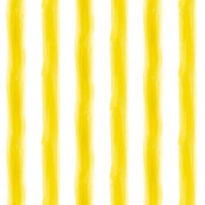 Watercolor Stripe in Yellow