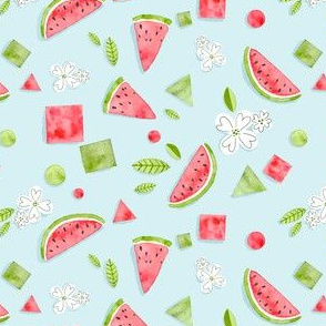 Watercolor Watermelon Scrapbook