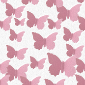 Light and Dark Pink Butterflies in An Oil Paint Style Design Perfect For Girl Nursery Bedroom