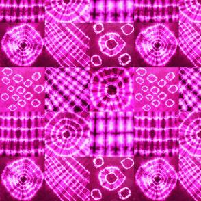 tie dye fuchsia nine-square