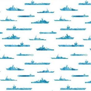 Naval Fleet - watercolor blue  - LAD19