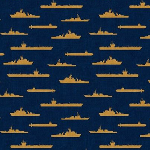 Naval Fleet - navy and gold - LAD19