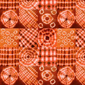 tie dye orange nine-square