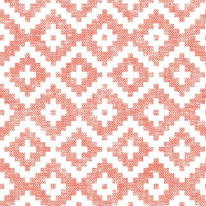woven aztec || coral  LAD19