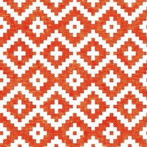woven aztec || orange LAD19