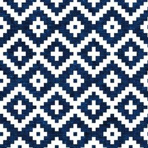 woven aztec || navy LAD19