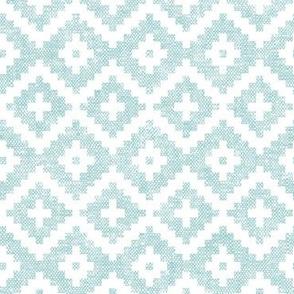 woven aztec || blue LAD19