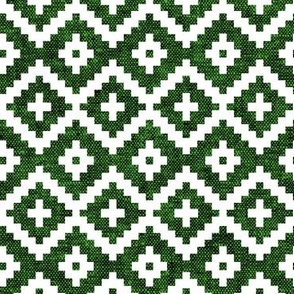 woven aztec || green LAD19