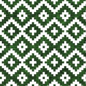 woven aztec || green LAD19
