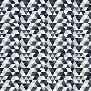 slate and navy triangles // micro