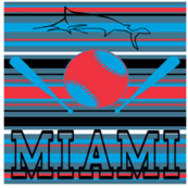 Miami Marlins Basebal City Team Colors