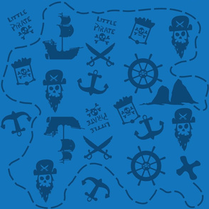 Little Pirates Pattern Blue