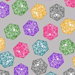 Glitter D20 Dice ( Small Scale )