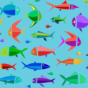 Common Fish of the MadTropic 36in blue