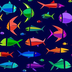 Common Fish of the MadTropic 36in dark