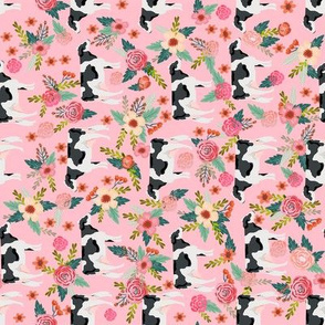 holstein floral cattle cow farm animal floral pink