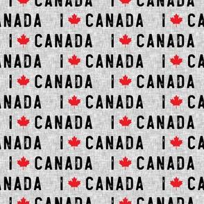 I love Canada - grey - LAD19